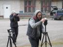 Výtvarník Adolf Lachman a Ing. Saša dokumentují.