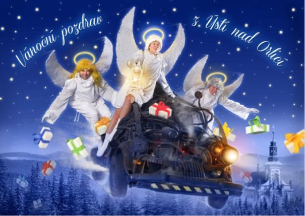 Vánoční pohlednice